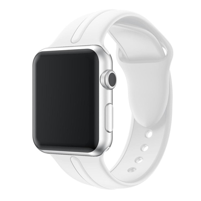 Bracelet Apple Watch Silicone Osmose 38mm blanc