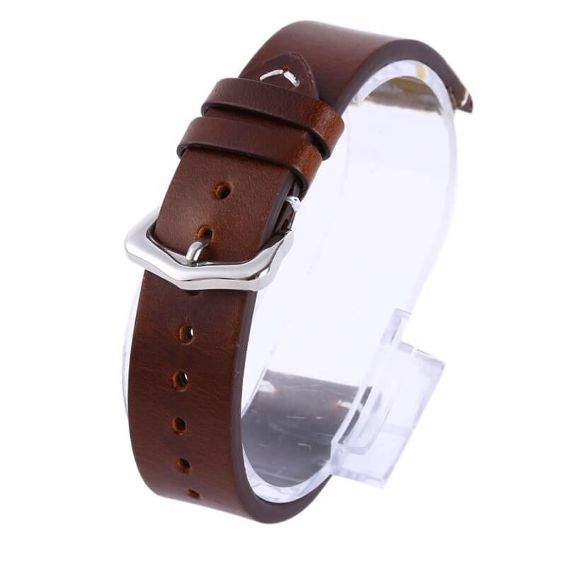 Bracelet montre cuir Véritable Exius Marron