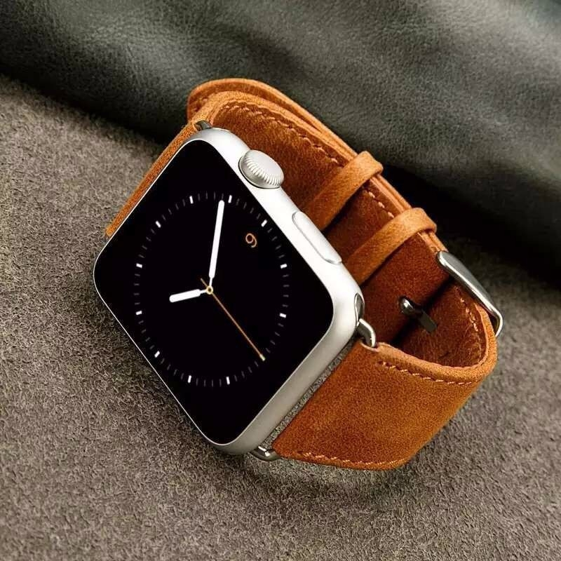 Bracelet Apple Watch Perfectis cuir 100% véritable 42mm.