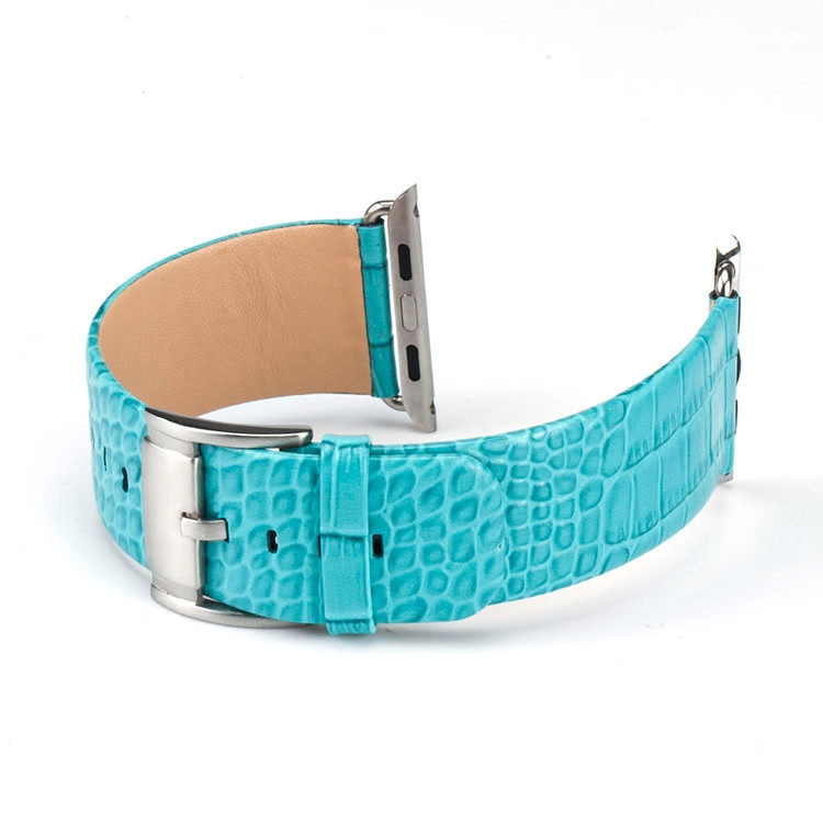 Apple Watch 100% Genuine Leather Strap Croc 42mm Turquoise.