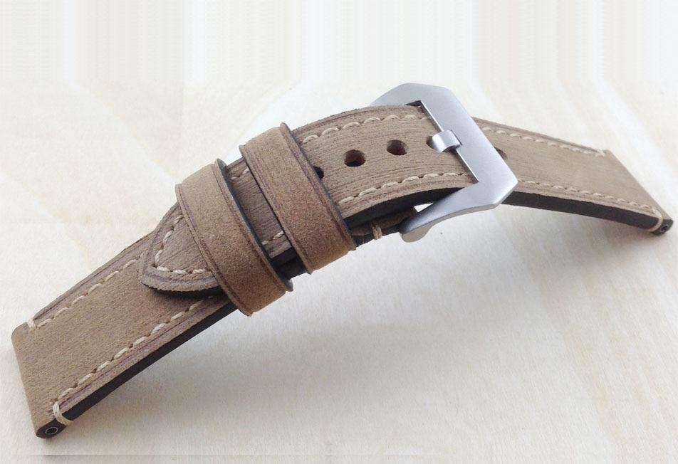 Correa Cuero 100% Genuino Stany 20mm 22mm 24mm 26mm Marron.