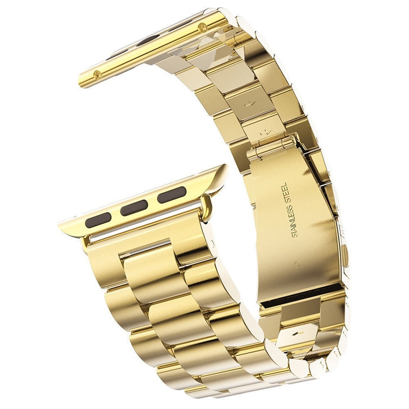 Brazalete Acero inoxidable Apple Watch 42mm Dorado.