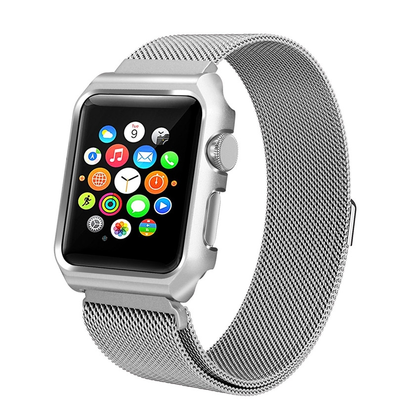 Milanesa Mesh Apple Watch 38mm Caja Protectora.
