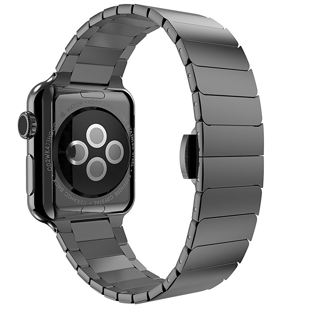 Brazalete Acero inoxidable Apple Watch 42mm iLuxe Negro.