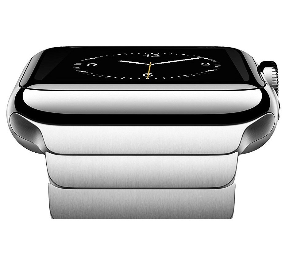 Bracelet Apple Watch Acier Inox 42mm iLuxe Noir.