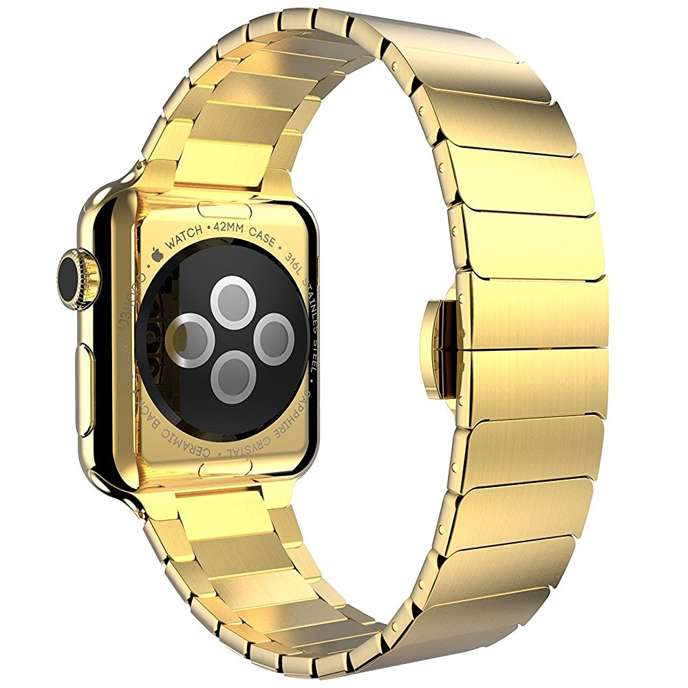 Brazalete Acero inoxidable Apple Watch 42mm iLuxe Dorado.