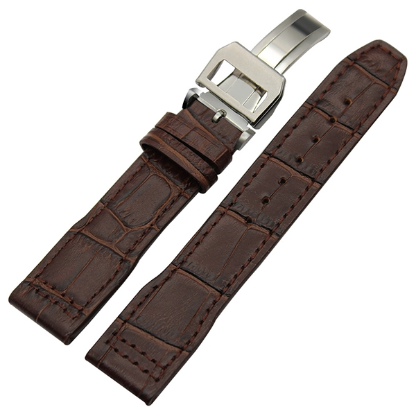Leather Strap 100% Genuine Avirex 20mm 22mm Brown.