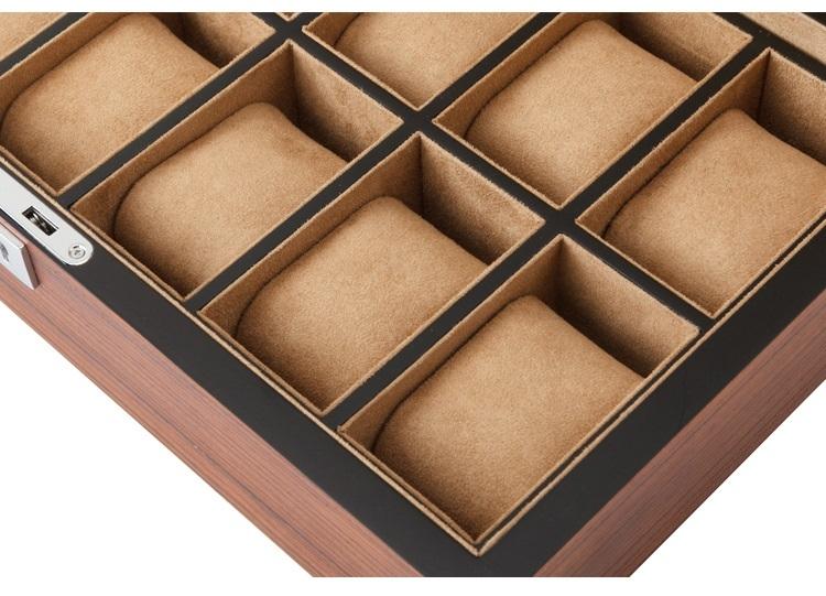High Quality Watch Box 12 Slots Zebra Wood.
