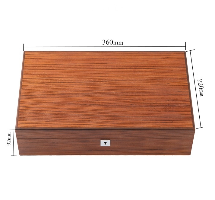 High Quality Watch Box 12 Slots Zebra Wood.