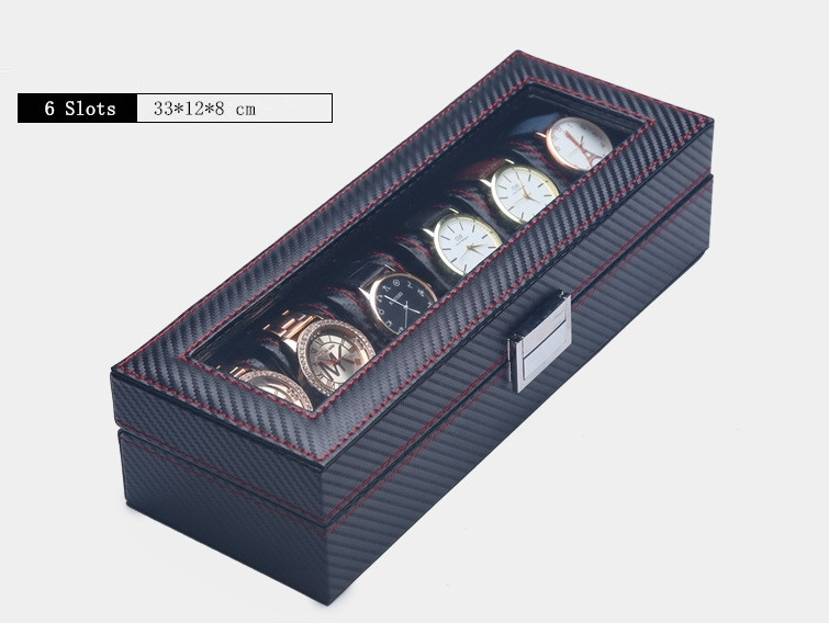 Caja 6 Relojes Fibra Carbono Zweiler.