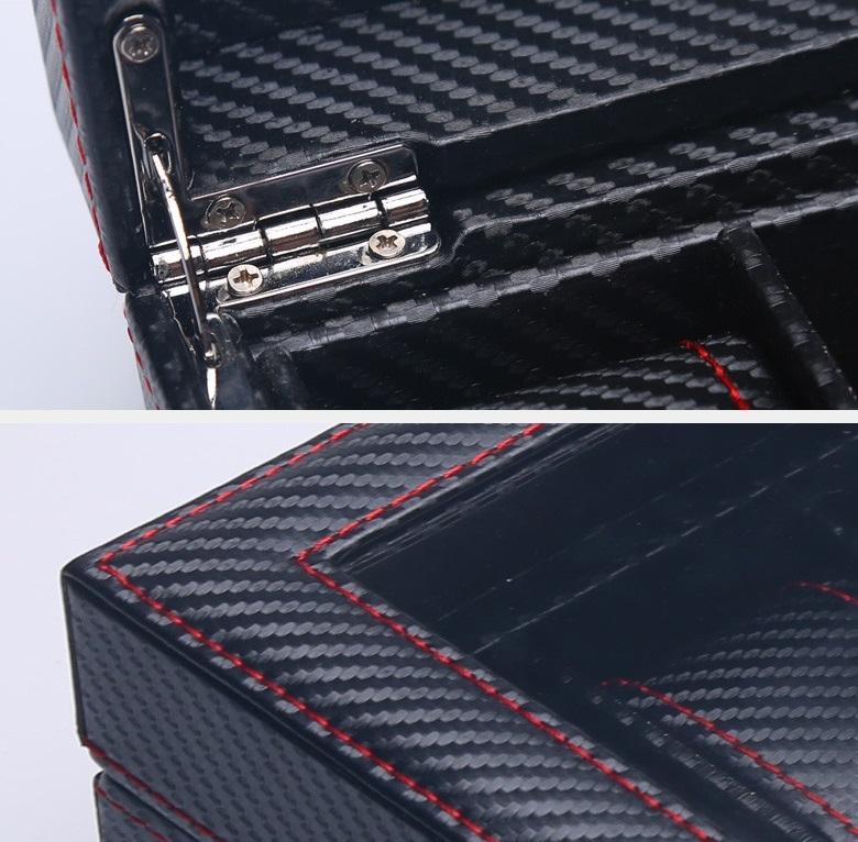 High Quality Watch Box 6 Slots Carbon Fiber Zweiler.