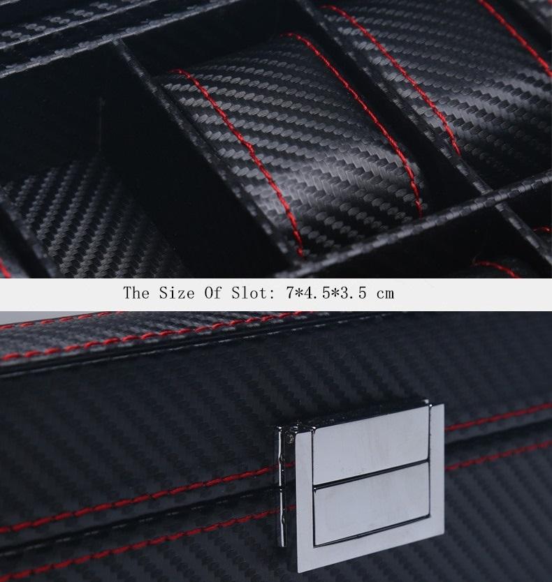 Coffret pour 6 Montres Fibres Carbones Haute Qualité Zweiler.Watch Box 6 Slots Carbon Fiber Zweiler.