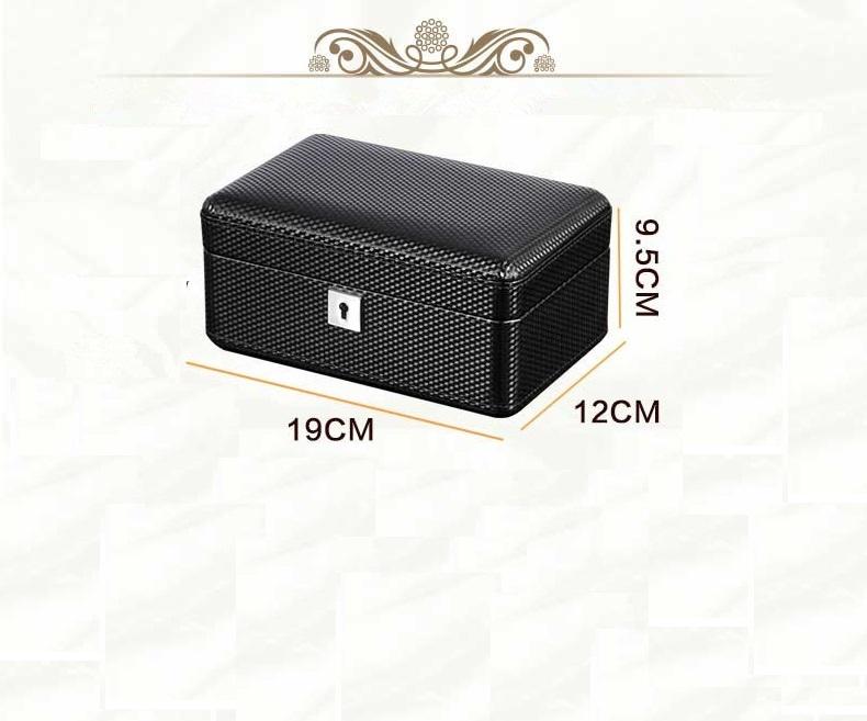 High Quality Watch Box 3 Slots Carbon Fiber Zweiler.