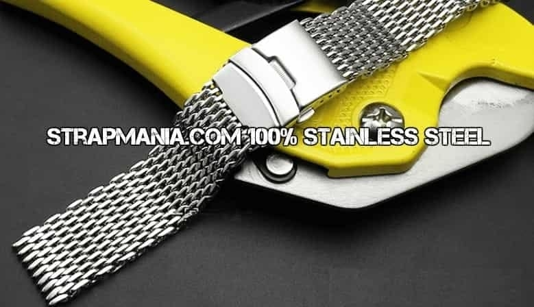 Shark mesh for dive watches