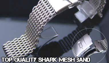 Shark mesh band for dive watches